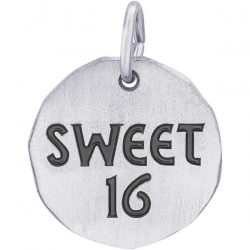 SWEET 16 CHARM TAG ENGRAVABLE
