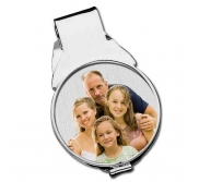 Stainless Steel Photo Engraved  Half Dollar Size  Money Clip