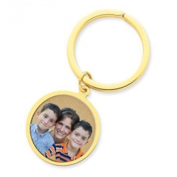 Photo Engraved Round Key Chain