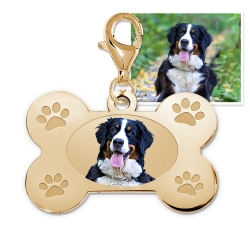 Dog Bone Photo Charm For Bracelet