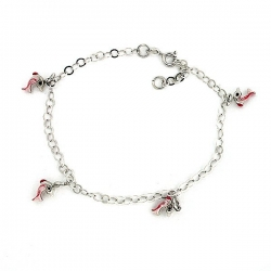 Sterling Silver Adjustable Anklet   Ankle Bracelet Dolphins