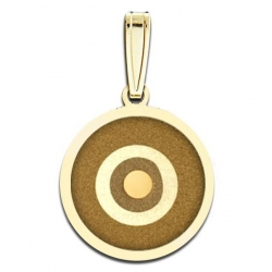 Evil Eye Engraved Round Pendant