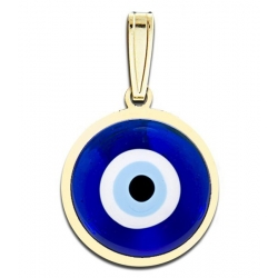 Evil Eye Color Round Pendant