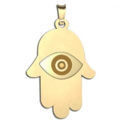 Hamsa Protector of Evil Eye Engraved Pendant