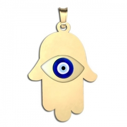 Hamsa Protector of Evil Eye Color Pendant