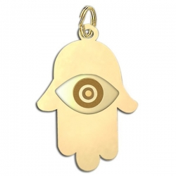 Hamsa  Protector of Evil Eye  Engraved Charm