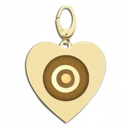 Heart Shaped Evil Eye Engraved Charm