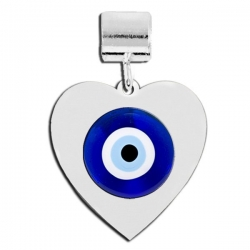 Heart Shaped Evil Eye Color Charm