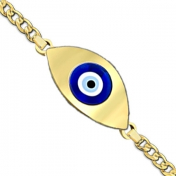 Evil Eye Color Bracelet w  Curb Chain