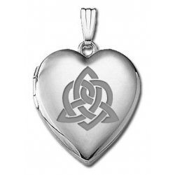 14k White Gold   Sister s Love    Hearts Locket