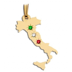 Italy   with Colored Stones Pendant or Charm