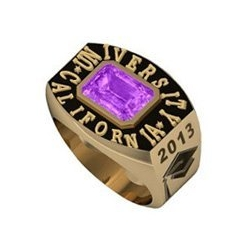 Boy s Round Square Emerald Class Ring
