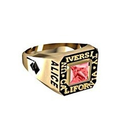 Girl s Square Princess Class Ring