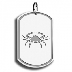 Cancer Symbol Dog Tag Pendant