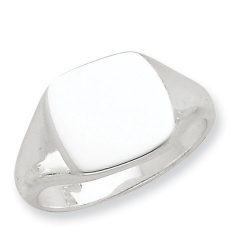 Sterling Silver Solid Back Signet Ring