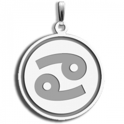 Cancer Symbol Round Charm or Pendant