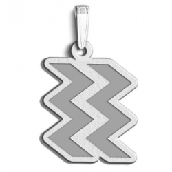 Aquarius Symbol Outline Charm or Pendant