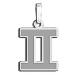 Gemini Symbol Outline Charm or Pendant