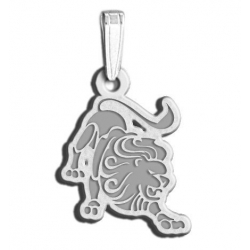 Leo Symbol Outline Charm or Pendant