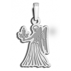 Virgo Symbol Outline Charm or Pendant