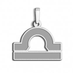 Libra Symbol Outline Charm or Pendant