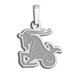 Capricorn Symbol Outline Charm or Pendant