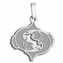 Pisces Symbol Outline Charm or Pendant
