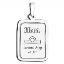 Libra Symbol Rectangle Charm or Pendant
