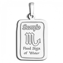 Scorpio Symbol Rectangle Charm or Pendant
