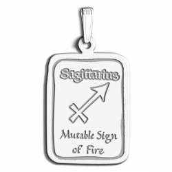 Sagittarius Symbol Rectangle Charm or Pendant