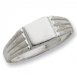 Sterling Silver Square Signet Ring