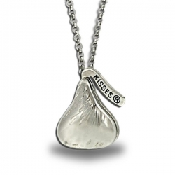 Sterling Silver Officially Licensed Hershey s Kiss Locket with Chain