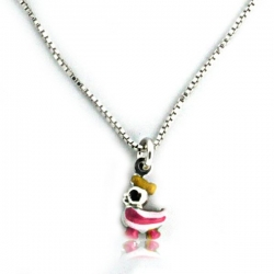Sterling Silver Enamel   Rubber Ducky   Necklace