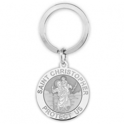 Saint Christopher Religious Engravable Keychain