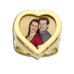 Heart Shaped Photo Lasered Ring