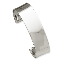 14k White Gold Women s High Polished Hinged Bangle Bracelet