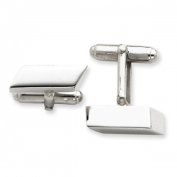 Square Shaped Sterling Silver Engravable Cufflinks