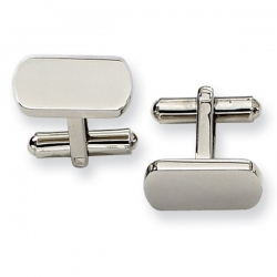 Rectangle Shaped Stainless Steel Engravable Cufflinks