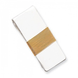 Sterling Silver Engravable Money Clip W  Gold Plating