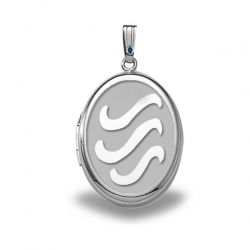 Sterling Silver  H2O  Oval Locket