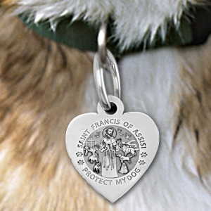saint francis of assisi quotprotect my dog quot heart shaped