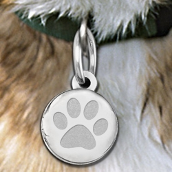 Dog s Paw Print Round  Picture Locket