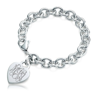 Tiffany Heart Bracelet >> Custom Engraved Sterling Silver Women's Tiffany Style ...