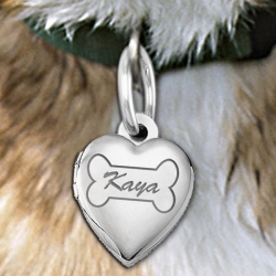 Dog Bone Heart Picture Locket