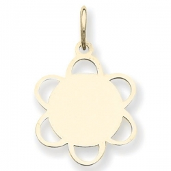 14k Yellow Gold Engravable Charm or Pendant