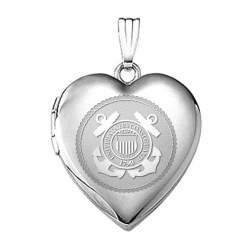 Sterling Silver Coast Guard Heart Locket