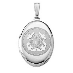 Sterling Silver Oval Coast Guard Picture Locket