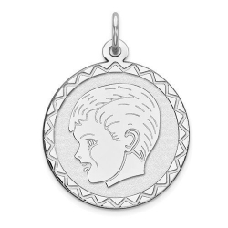 Sterling Silver Engravable Charm or Pendant