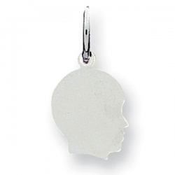 Sterling Silver Engravable Child s Face