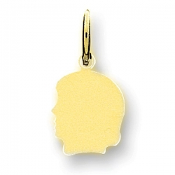 14k Solid Yellow Gold Engravable Child s Face